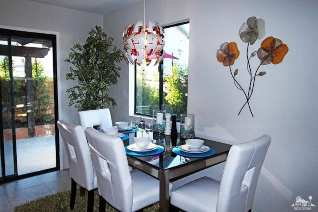 Dining room has access to private patio