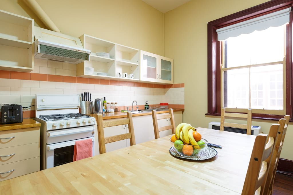 Self catering fully equipped kitchen