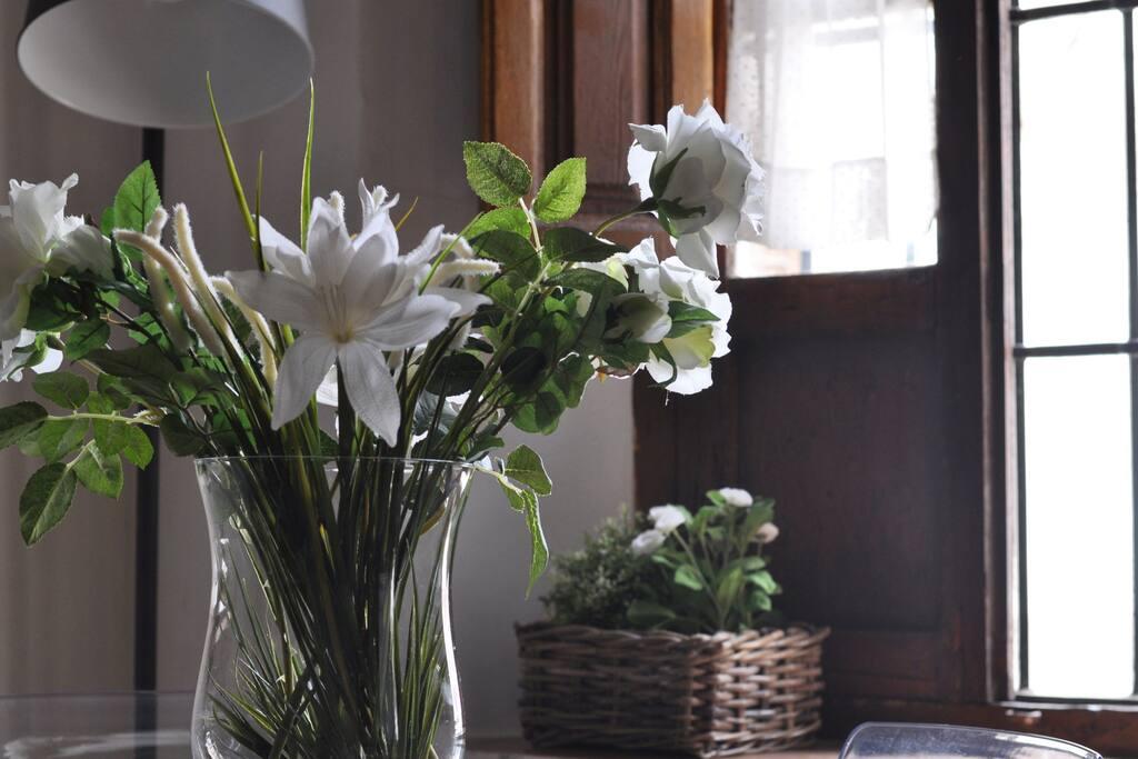 Flores mesa salón