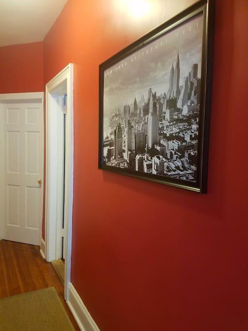 hallway to Bedroom #1, #2 & Bathroom