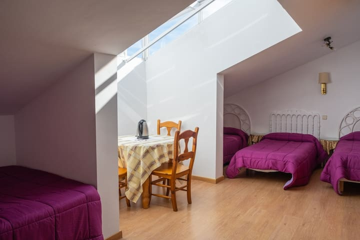 Habitación familiar con baño privado. 5 plazas