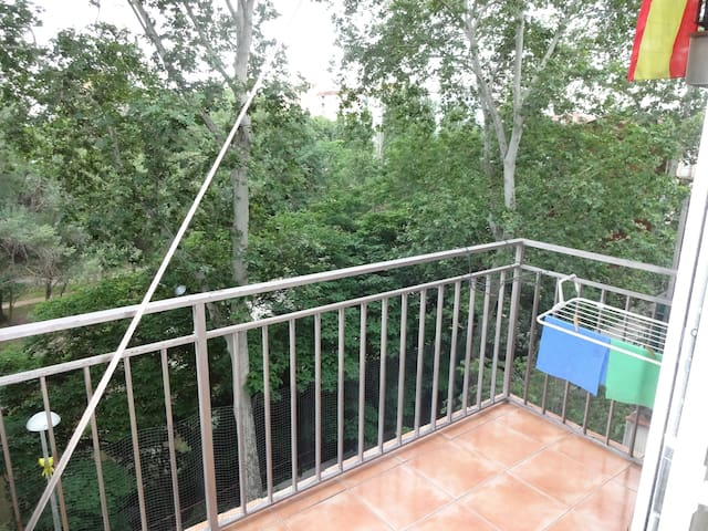 Flat with a river view close to town