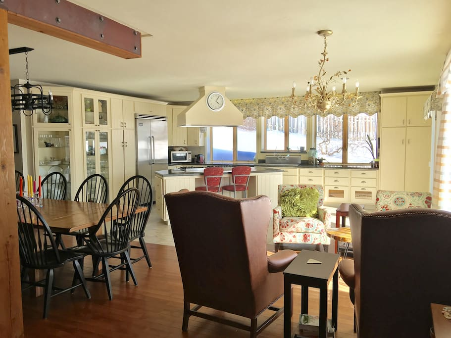 The heart of the home a warm professional kitchen awaits you with amazing space, appliances, a custom designed kitchen.