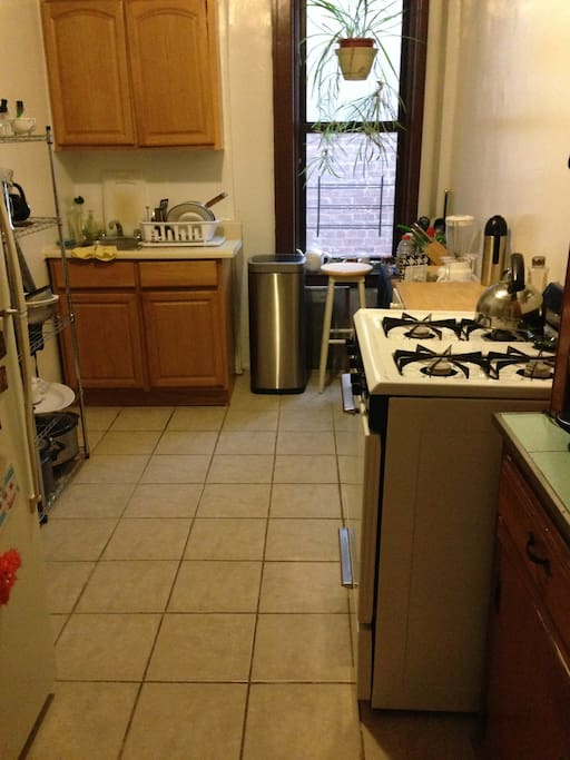 Nice large kitchen for those looking to cook.
