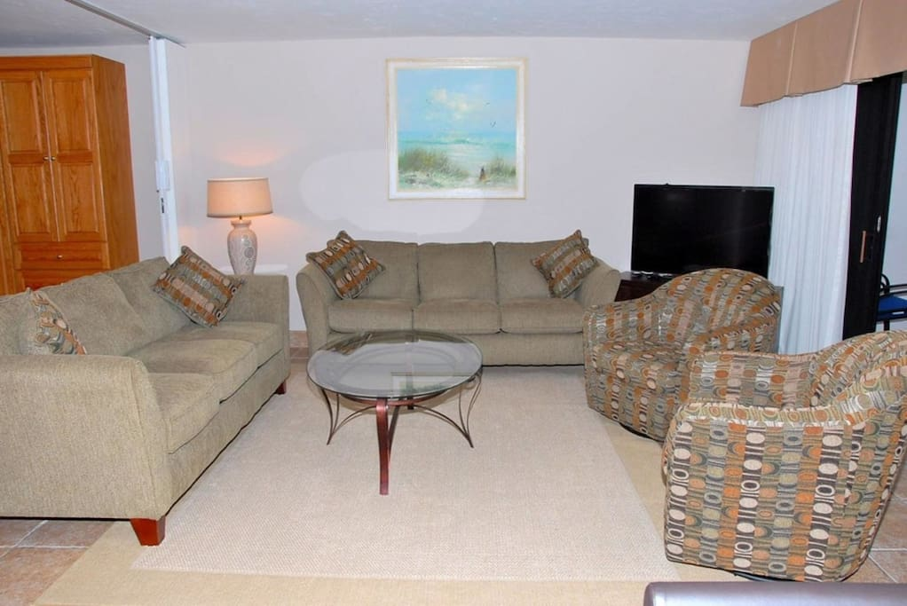 Comfortable seating area , room for all