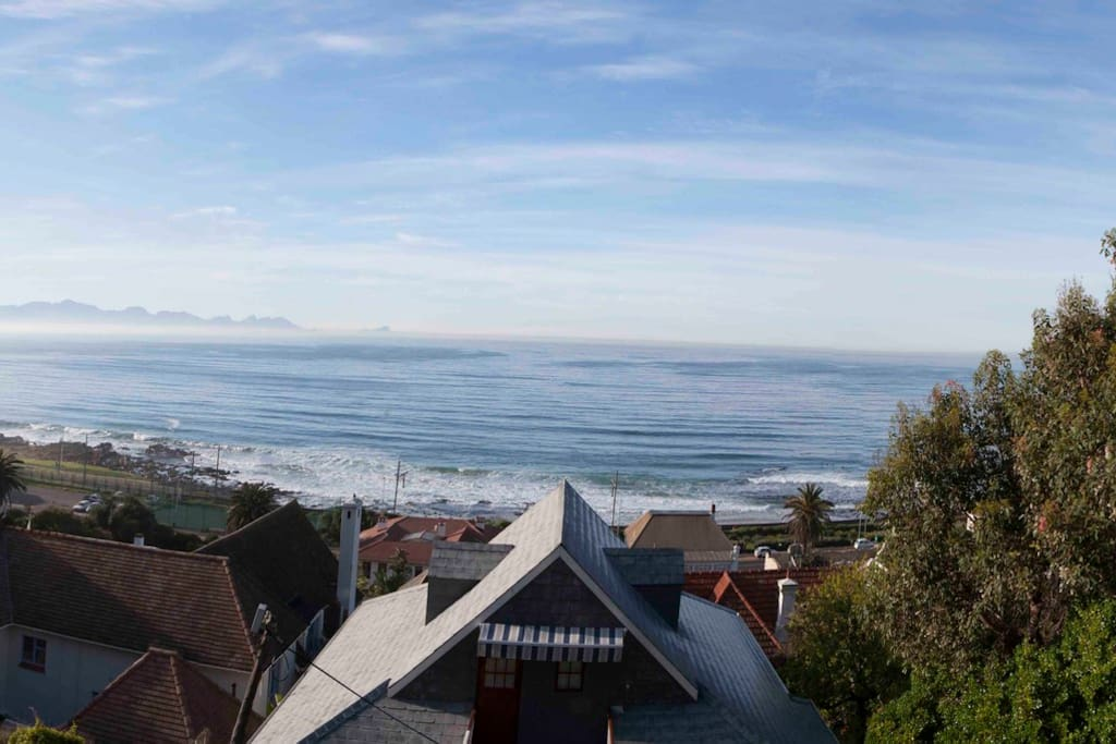 Panoramic view of False Bay from Brynmor's deck