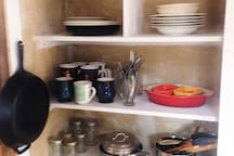 The kitchen is lightly equiped. Let us know if you have any specific need; we may be able to accomodate!