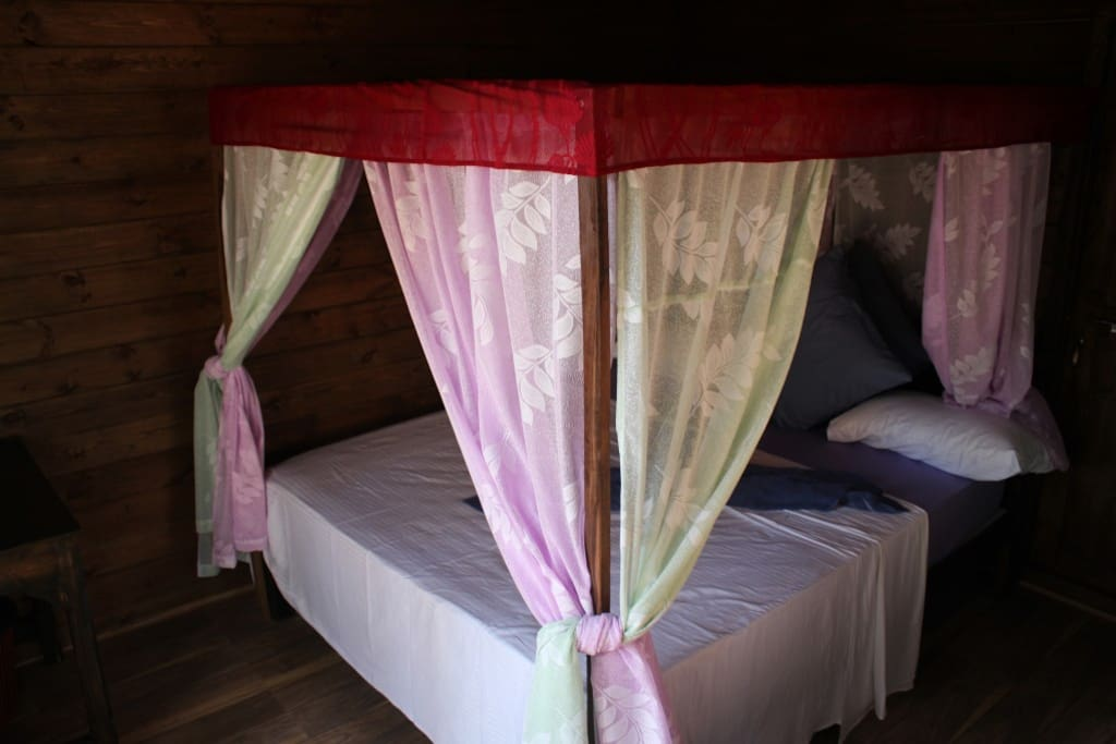 A king size bed with gorgeous mosquito net specially designed and made for Sea star will help you rest through the night.