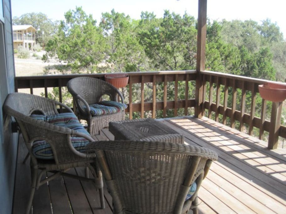 Covered deck with fantastic lake view
