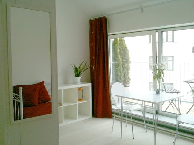 Studio with sunny terrace in center - Helsinki - Appartement