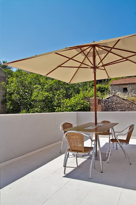villa oceanusvisoutdoor lounge bbq sun terrace