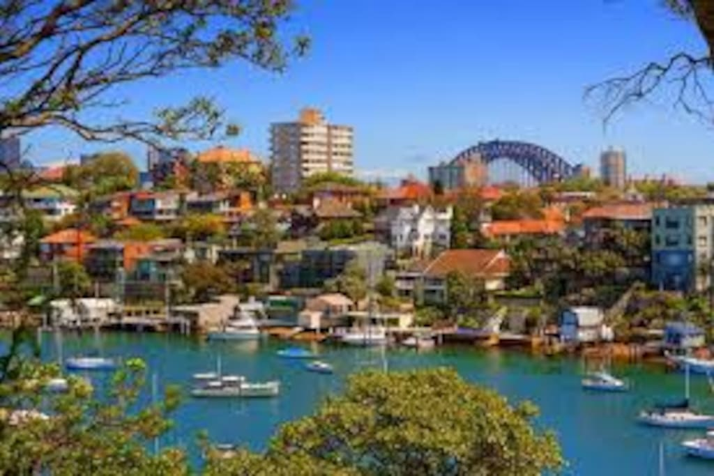 This is Cremorne Reserve walking track. You can walk along the harbour looking at the harbour bridge and have a great view of New Years Eve fire works.