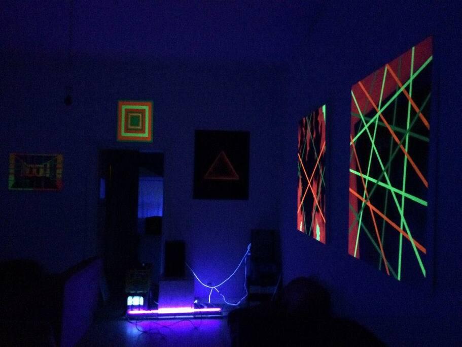 odd view of front room (black light optional)