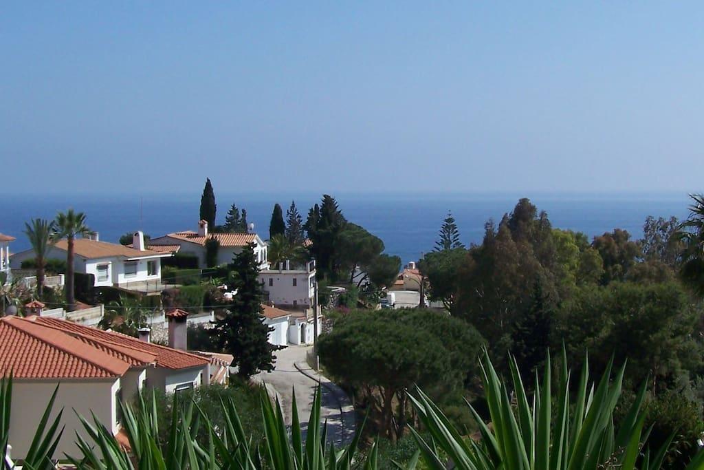 Uitzicht vanaf appartement El Sol