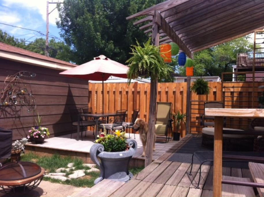 back yard with grill