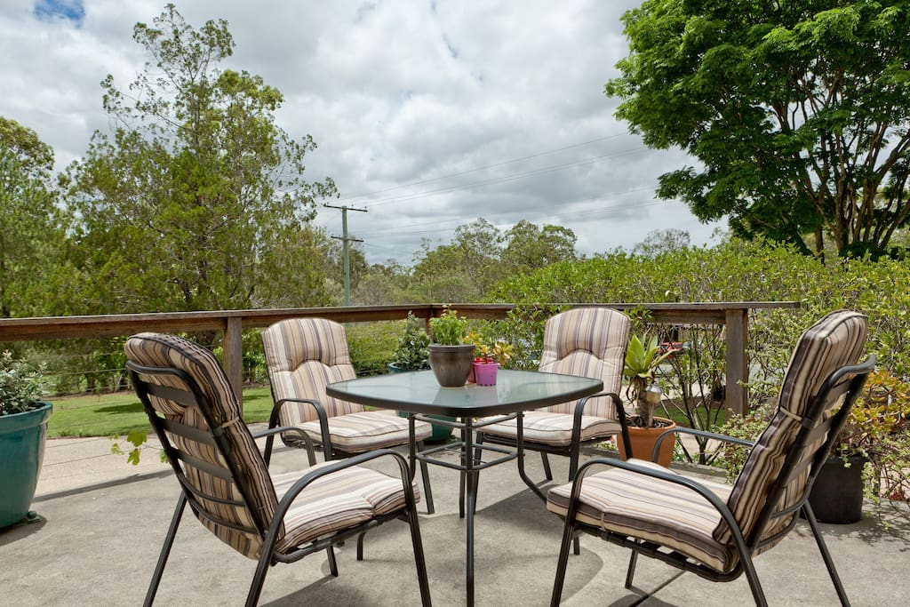 Dine on the patio overlooking the pool and listen to the laughter of the kookaburras.