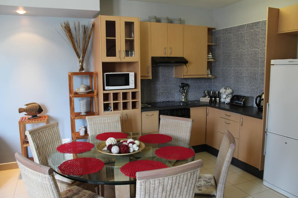 Dining Area seating 6 with fully equipped kitchen