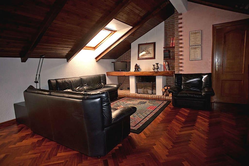 Salotto mansarda