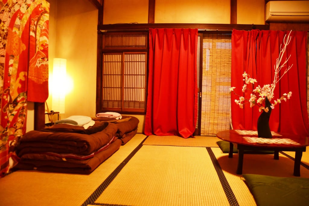 Big 8tatami room with air condition. 2~4people ※this is your room