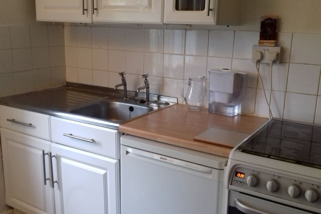 Self Catering... fridge, freezer ,gas cooker with oven, toaster, microwave.