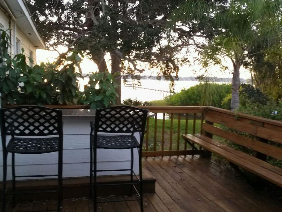 Private deck to enjoy sunsets