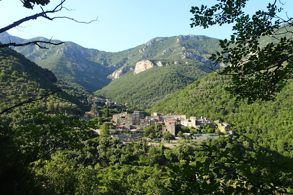 A View of Colletta from accross the valley