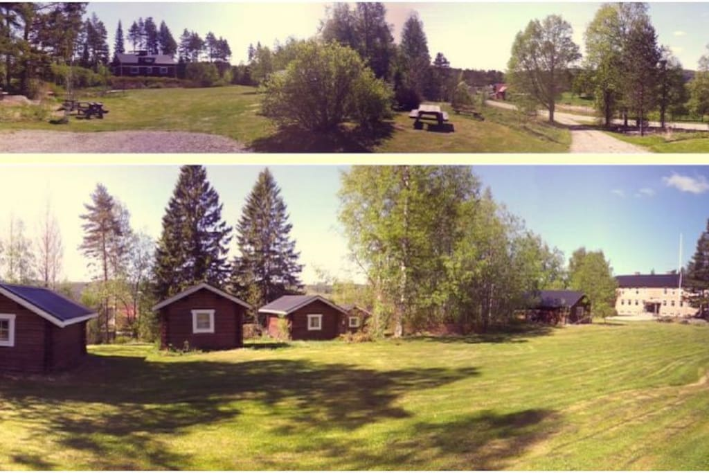 5 of  our  camping   cabins