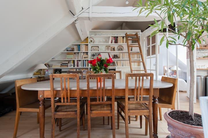 Charming Penthouse  center Paris  - Paris - Apartemen