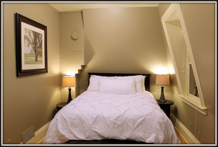 Relax on our soft, well appointed queen bed.