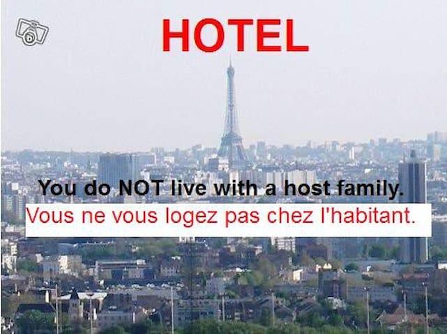 ROOM 3: Exceptional Panoramic view over Paris - Épinay-sur-Seine - Apartamento