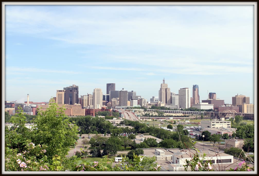 Panoramic views of Saint Paul and the Mississippi River from the house!