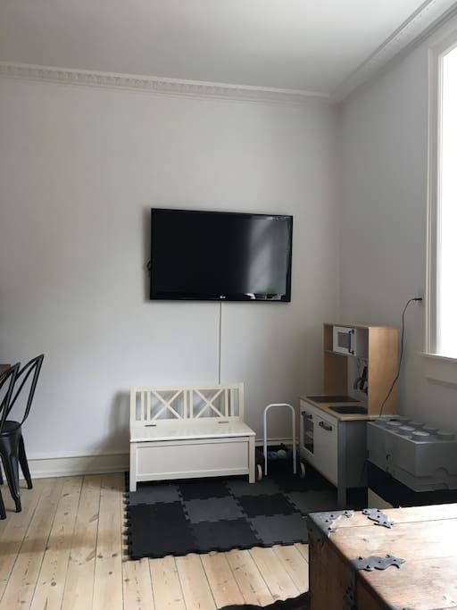 Tv area and toys for baby/toddler