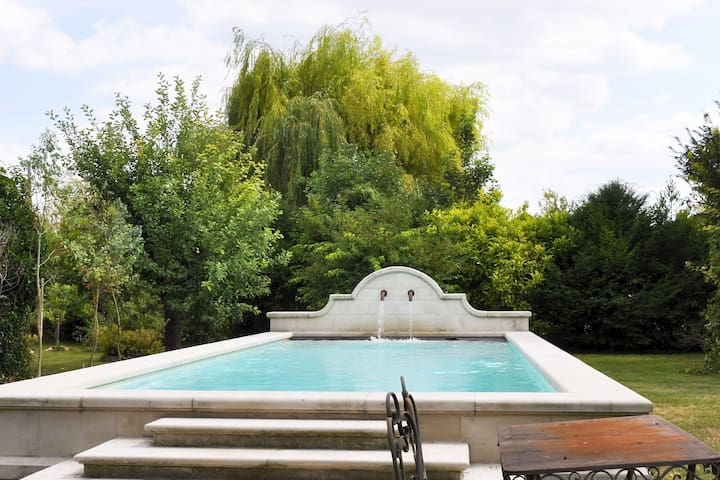 Beautiful holiday home with heated pool in Champagne