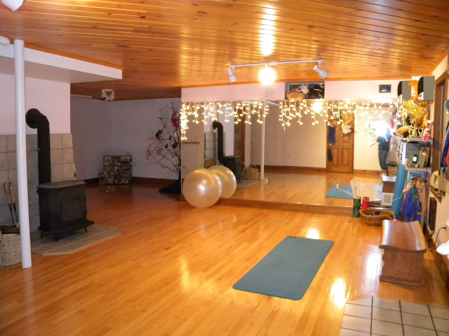 Workout/yoga studio available for your use.