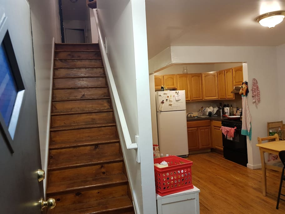 1. Entrance of the apartment: 2 floors --my room is the first floor.