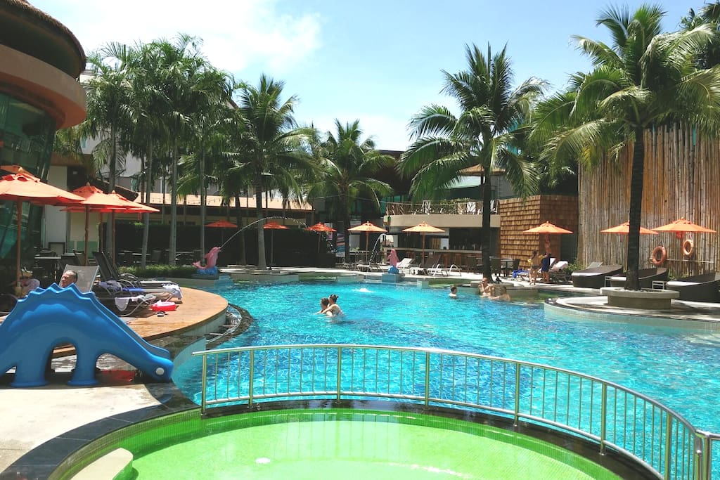 One of 3 swimming pools at the resort.