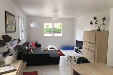 Chambre double dans maison neuve chez l'habitant - Rumah