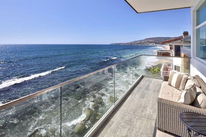 Ultimate Beachfront Hideaway!  Ocean waves await!