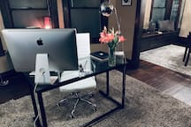 27 inch iMac computer to use with a printer for your convenience in the den :)