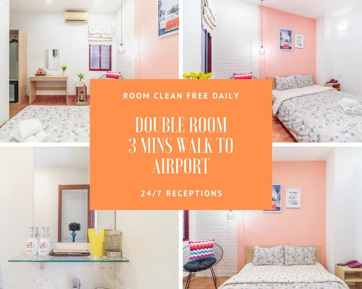 Cozy Room - 3 mins walk to Airport - For 2 pax