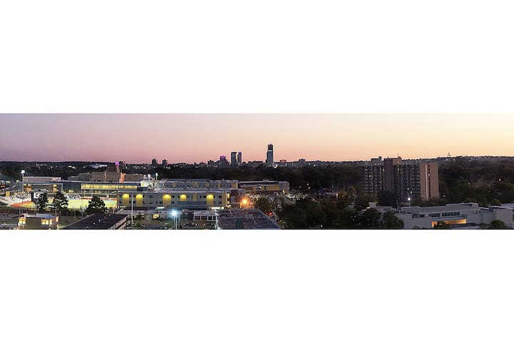 Panoramic View of Downtown Little Rock From Park Hill