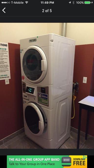 Washer/Dryer on second floor