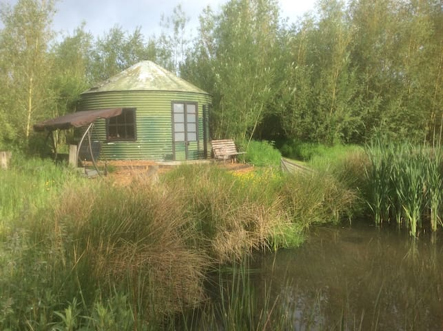 Beautiful room with a pond view!Wow!Look inside...