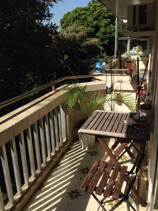 First balcony - very sunny, with sliding windows opening off the living room