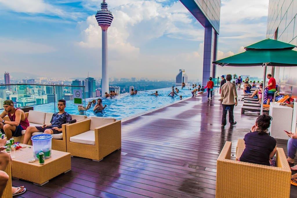Highest Rooftop Sky Infinity Pool in KL City.
