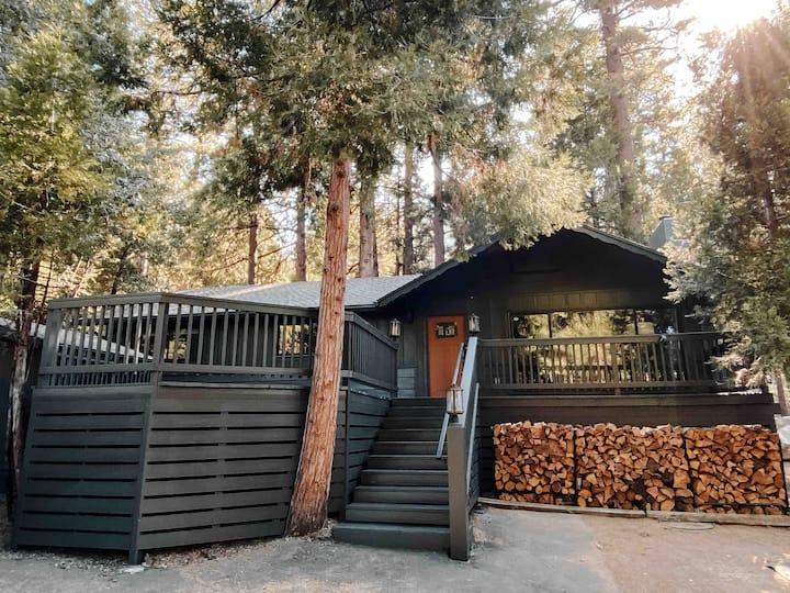idyllwild treehaus cozy+modern+1 mile to town+AC