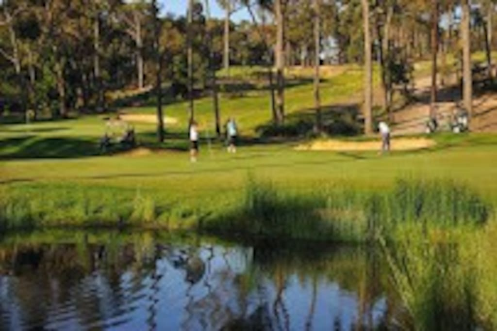 The house is located within the RACV Goldfields Resort and golf course