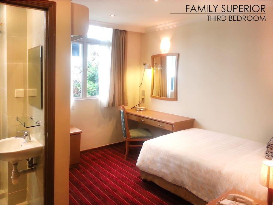 3rd bedroom - 1 super single bed