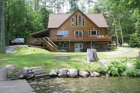log cabin on norway lake with a beautiful veiw