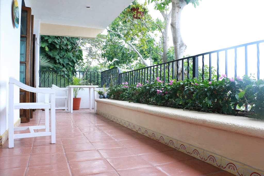 Spacious balcony for relaxing or entertaining.